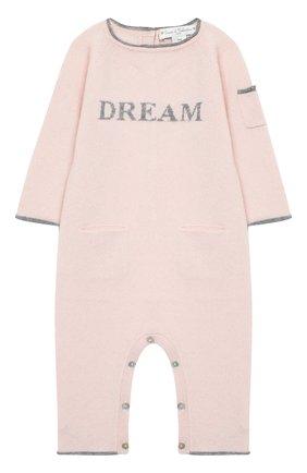 Детский кашемировый комбинезон OSCAR ET VALENTINE розового цвета, арт. COM01DREAMS | Фото 1