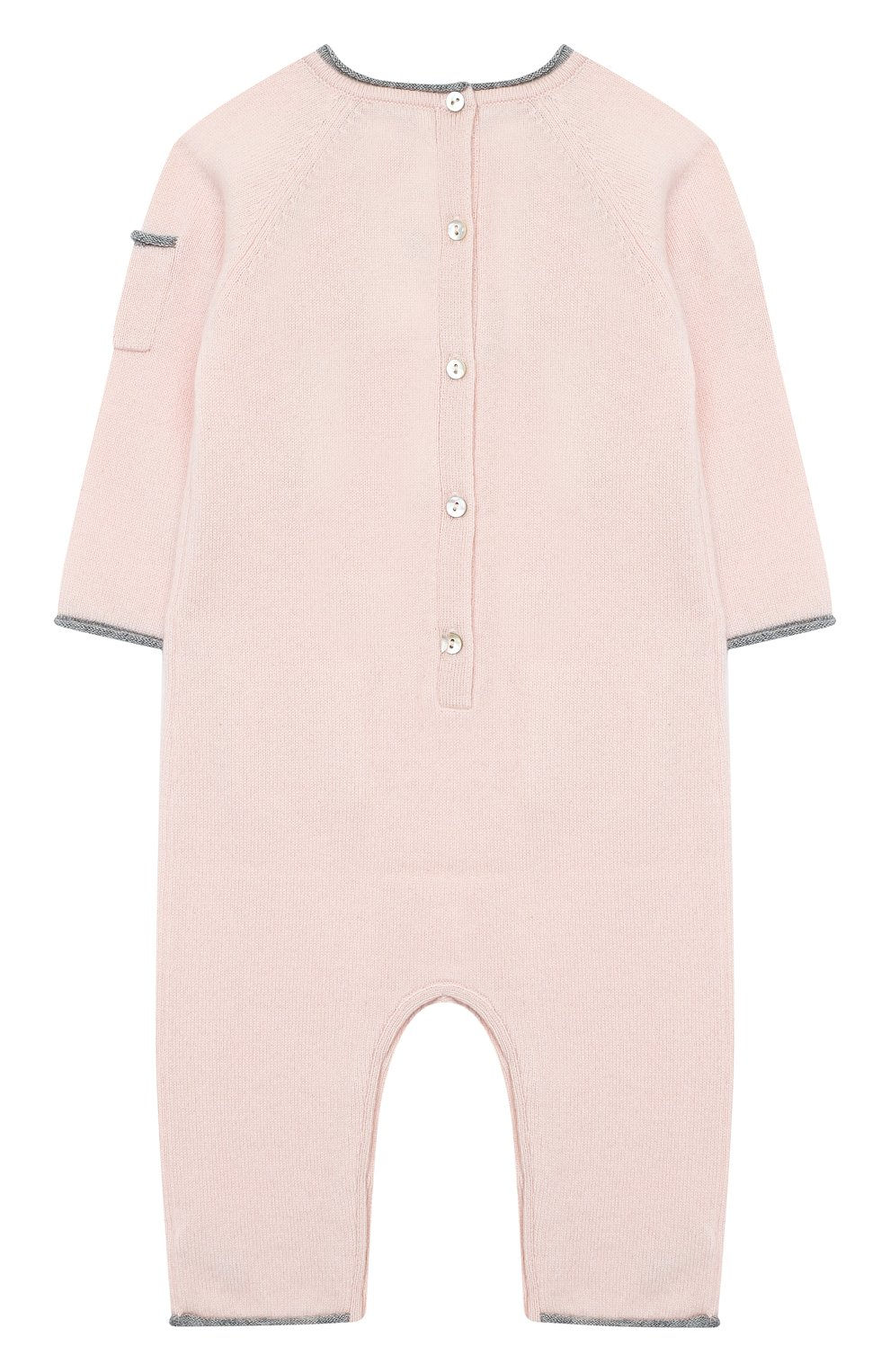 Детский кашемировый комбинезон OSCAR ET VALENTINE розового цвета, арт. COM01DREAMS   Фото 2 (Материал внешний: Шерсть; Рукава: Длинные; Ростовка одежда: 6 мес   68 см)
