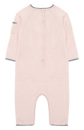 Детский кашемировый комбинезон OSCAR ET VALENTINE розового цвета, арт. COM01DREAMS | Фото 2
