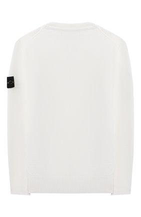 Детский шерстяной пуловер STONE ISLAND белого цвета, арт. 7316501A4/10-12 | Фото 2