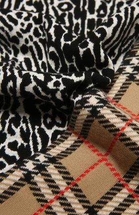 Детский шерстяной шарф BURBERRY разноцветного цвета, арт. 8029169 | Фото 2