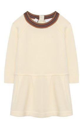 Женский шерстяное платье BURBERRY белого цвета, арт. 8031612 | Фото 1