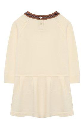 Женский шерстяное платье BURBERRY белого цвета, арт. 8031612 | Фото 2
