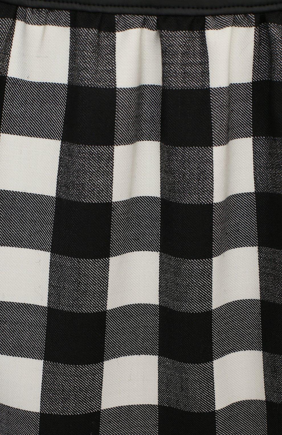 Детское платье SIMONETTA черно-белого цвета, арт. 1N1601/NE080/5-8 | Фото 3 (Материал внешний: Шерсть, Синтетический материал; Рукава: Короткие; Случай: Повседневный; Материал подклада: Купро)
