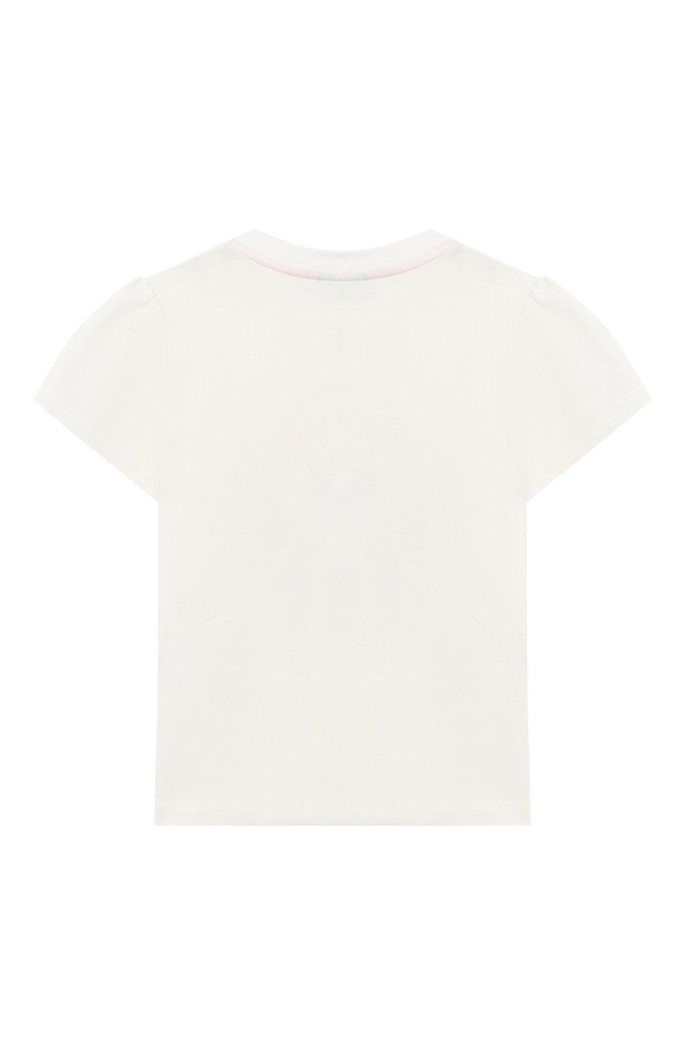 Детский хлопковая футболка FENDI белого цвета, арт. BFI116/ST8/12M-24M | Фото 2