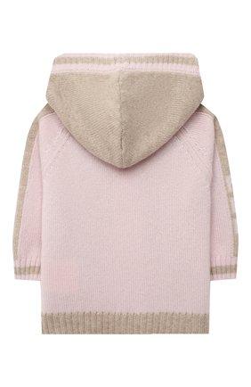 Детский кашемировый кардиган FENDI розового цвета, арт. BUG047/A8LH/3M-9M | Фото 2