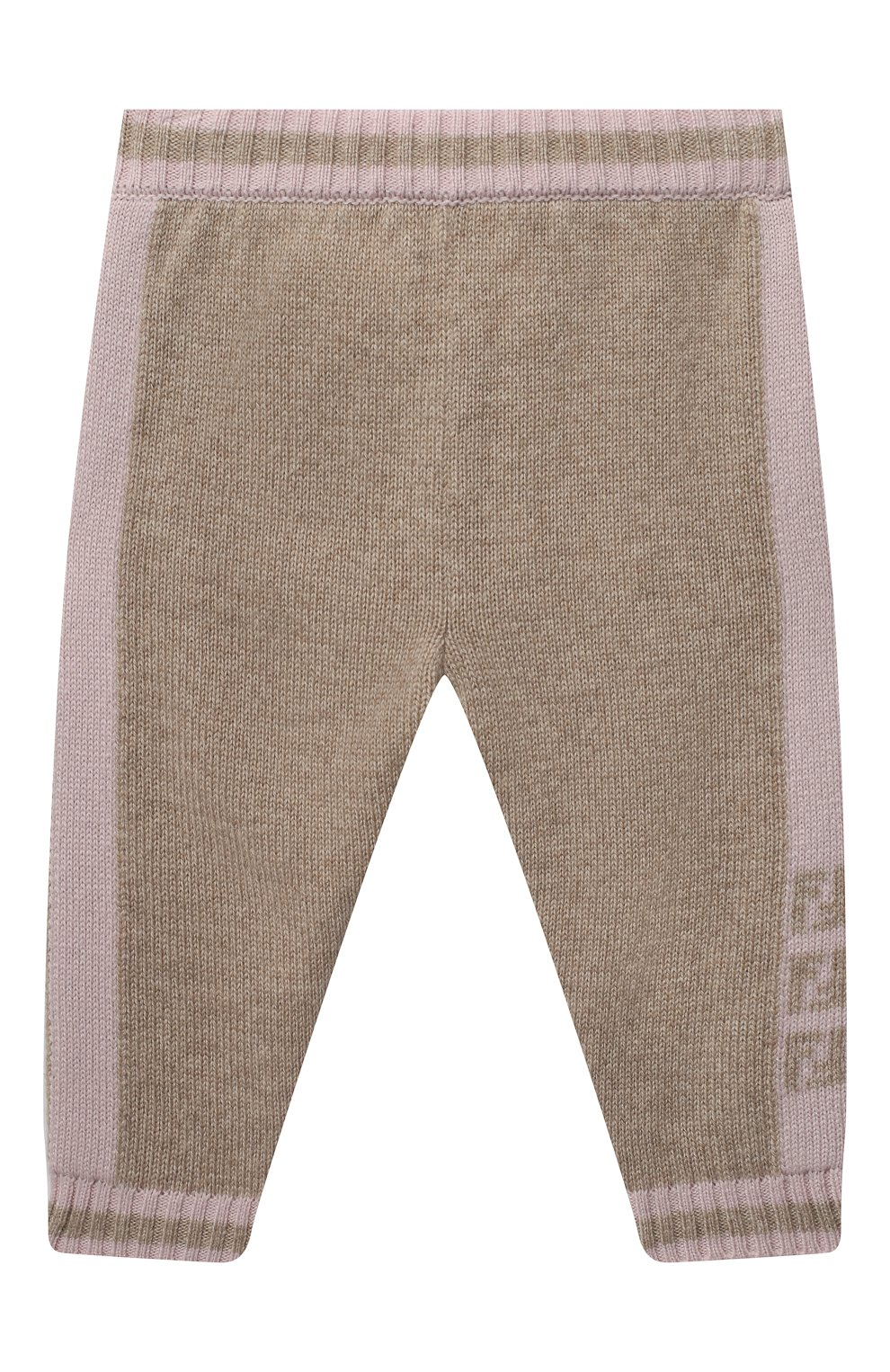 Детские кашемировые брюки FENDI розового цвета, арт. BUG048/A8LH/3M-9M | Фото 1