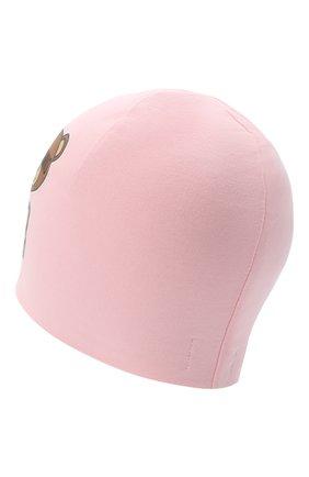 Детского хлопковая шапка MOSCHINO розового цвета, арт. HMX00Z/LDA16 | Фото 2