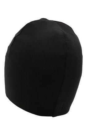 Детского хлопковая шапка MOSCHINO черного цвета, арт. HMX00Z/LDA16 | Фото 2