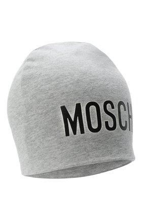 Детского хлопковая шапка MOSCHINO серого цвета, арт. HMX00Z/LDA16 | Фото 1