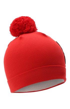 Детского хлопковая шапка MOSCHINO красного цвета, арт. HUX014/LHE03 | Фото 1