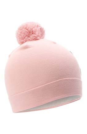 Детского хлопковая шапка MOSCHINO розового цвета, арт. HUX014/LHE03 | Фото 1