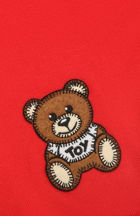 Детский хлопковый шарф MOSCHINO красного цвета, арт. HUX016/LHE03 | Фото 2