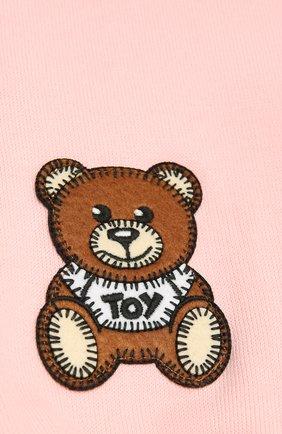 Детский хлопковый шарф MOSCHINO розового цвета, арт. HUX016/LHE03 | Фото 2