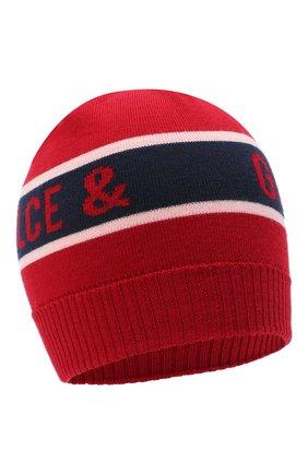 Детского шерстяная шапка DOLCE & GABBANA красного цвета, арт. LBKH45/JAVWG | Фото 1