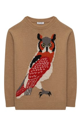 Детский пуловер DOLCE & GABBANA бежевого цвета, арт. L4KW85/JAM04/2-6 | Фото 1