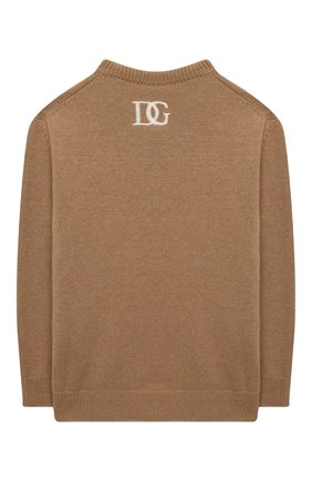 Детский пуловер DOLCE & GABBANA бежевого цвета, арт. L4KW85/JAM04/2-6 | Фото 2