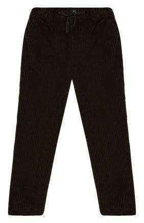 Детские хлопковые брюки DOLCE & GABBANA темно-коричневого цвета, арт. L43P32/G7XJW/8-14 | Фото 1