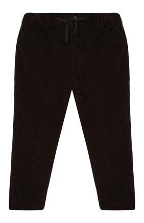 Детские хлопковые брюки DOLCE & GABBANA темно-коричневого цвета, арт. L43P32/G7XJW/2-6   Фото 1