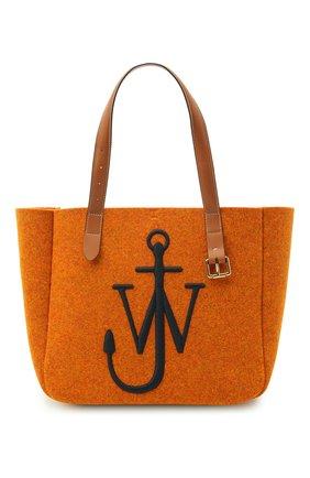 Женский сумка-тоут belt J.W. ANDERSON оранжевого цвета, арт. HB0243 FA0029 | Фото 1