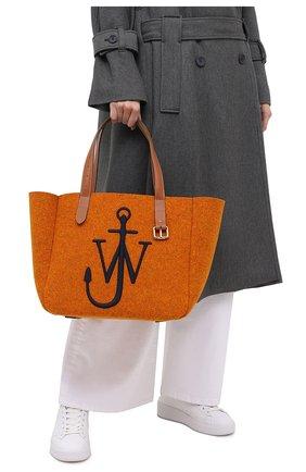 Женский сумка-тоут belt J.W. ANDERSON оранжевого цвета, арт. HB0243 FA0029 | Фото 2