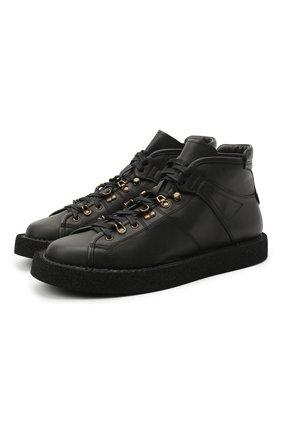 Мужские кожаные ботинки DOLCE & GABBANA черного цвета, арт. A20129/A3444 | Фото 1