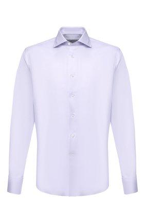 Мужская хлопковая сорочка CANALI сиреневого цвета, арт. NX58/GR01654/P | Фото 1