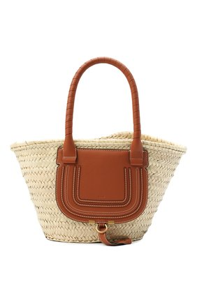 Женский сумка marcie medium CHLOÉ светло-коричневого цвета, арт. CHC20US828C97 | Фото 1