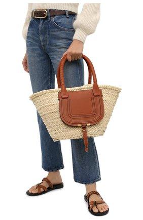 Женский сумка marcie medium CHLOÉ светло-коричневого цвета, арт. CHC20US828C97 | Фото 2