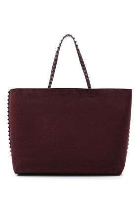 Женский сумка-шопер valentino garavani rockstud  VALENTINO бордового цвета, арт. UW2B0G98/JJK | Фото 1