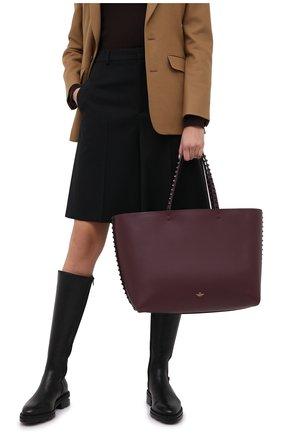 Женский сумка-шопер valentino garavani rockstud  VALENTINO бордового цвета, арт. UW2B0G98/JJK | Фото 2