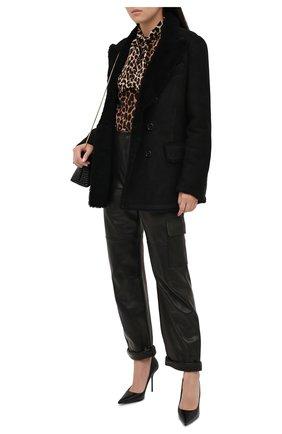 Женская дубленка TOM FORD черного цвета, арт. CSF620-FUX124 | Фото 2