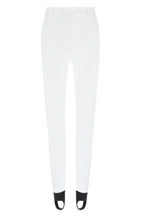Женские брюки со штрипками DSQUARED2 белого цвета, арт. S72KA1039/S53311 | Фото 1