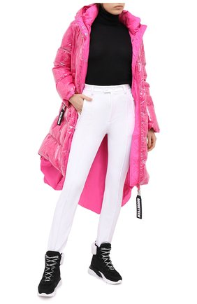 Женские брюки со штрипками DSQUARED2 белого цвета, арт. S72KA1039/S53311 | Фото 2