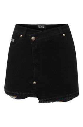 Женская джинсовая юбка VERSACE JEANS COUTURE черного цвета, арт. A9HZA32D-ZDP852 CUT 0UT/ALL4Z | Фото 1