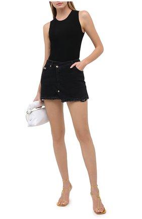 Женская джинсовая юбка VERSACE JEANS COUTURE черного цвета, арт. A9HZA32D-ZDP852 CUT 0UT/ALL4Z | Фото 2