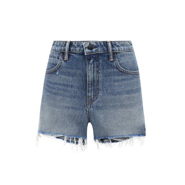 Джинсовые шорты с потертостями Denim X Alexander Wang
