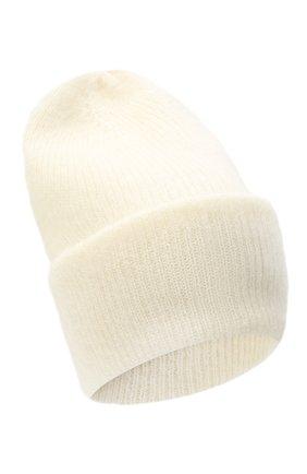 Женская шапка TAK.ORI белого цвета, арт. HTK50027WM050AW19 | Фото 1 (Материал: Синтетический материал, Шерсть, Текстиль)