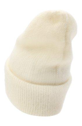 Женская шапка TAK.ORI белого цвета, арт. HTK50027WM050AW19 | Фото 2 (Материал: Синтетический материал, Шерсть, Текстиль)