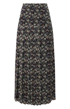 Женская шелковая юбка VICTORIA BECKHAM разноцветного цвета, арт. 1320WSK001761A | Фото 1