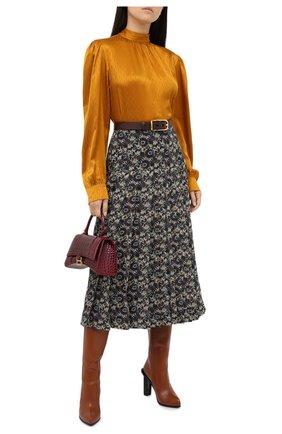 Женская шелковая юбка VICTORIA BECKHAM разноцветного цвета, арт. 1320WSK001761A | Фото 2