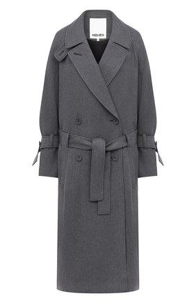 Женское пальто из вискозы и шерсти KENZO серого цвета, арт. FA62MA0345AL | Фото 1