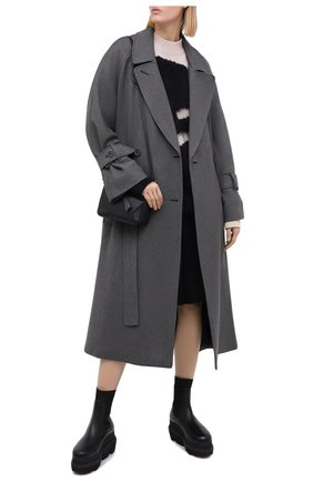 Женское пальто из вискозы и шерсти KENZO серого цвета, арт. FA62MA0345AL | Фото 2