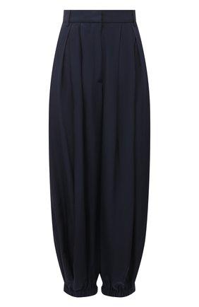 Женские шелковые брюки TIBI темно-синего цвета, арт. P220ES3246 | Фото 1