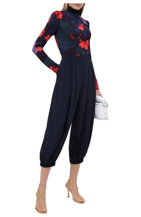 Женские шелковые брюки TIBI темно-синего цвета, арт. P220ES3246 | Фото 2