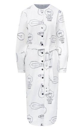 Женское хлопковое платье TIBI белого цвета, арт. P220LL1436 | Фото 1