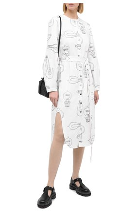 Женское хлопковое платье TIBI белого цвета, арт. P220LL1436 | Фото 2