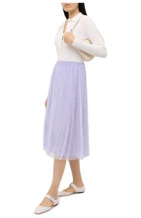 Женская юбка REDVALENTINO сиреневого цвета, арт. UR0RAC20/428 | Фото 2