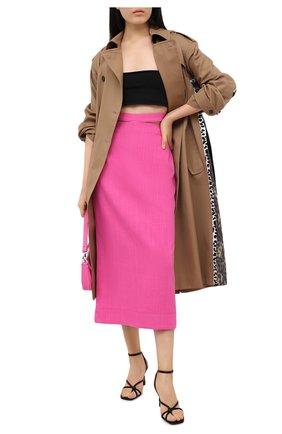 Женская юбка из вискозы и льна JACQUEMUS фуксия цвета, арт. 203SK01/124450 | Фото 2