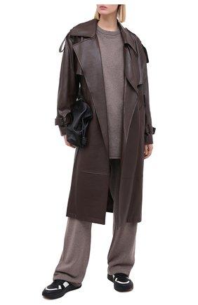 Женский кашемировый свитер EXTREME CASHMERE коричневого цвета, арт. 053/CREW H0P | Фото 2